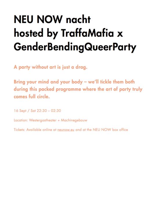 Copy for programme leaflet